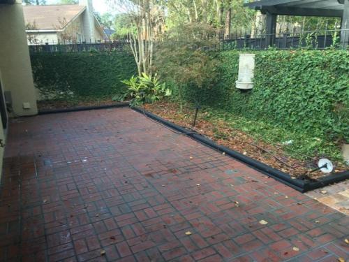 Backyard Red Brick Patio