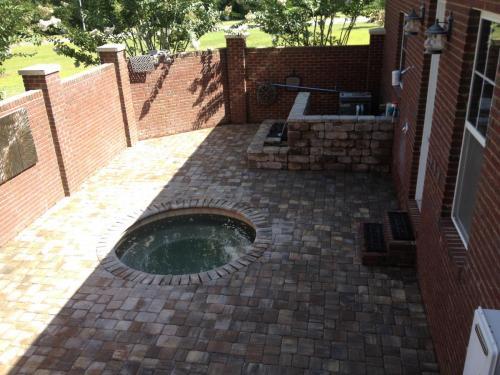 Backyard Hot Tub Patio