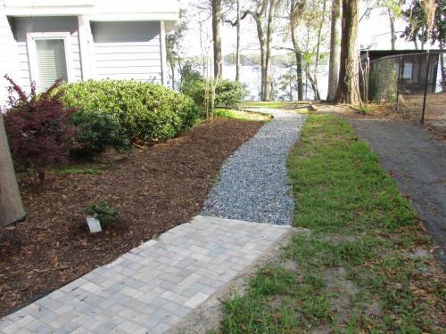 Paver and Gravel Walkway