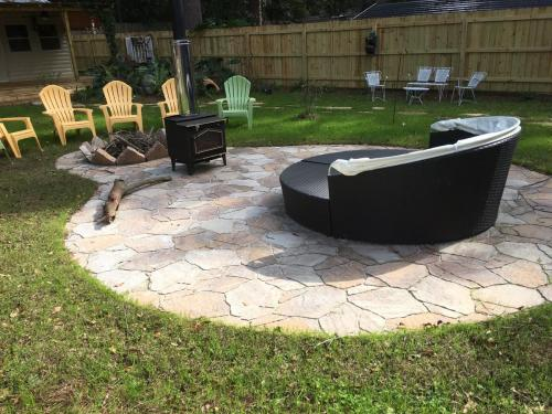 Patio and Stove