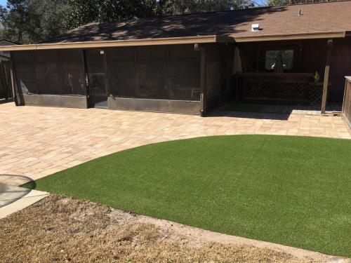 Patio with Synthetic Grass