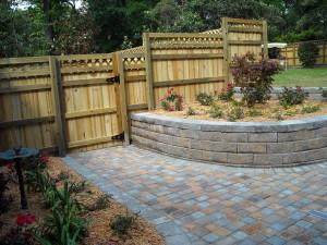 Backyard Fence and Pathway
