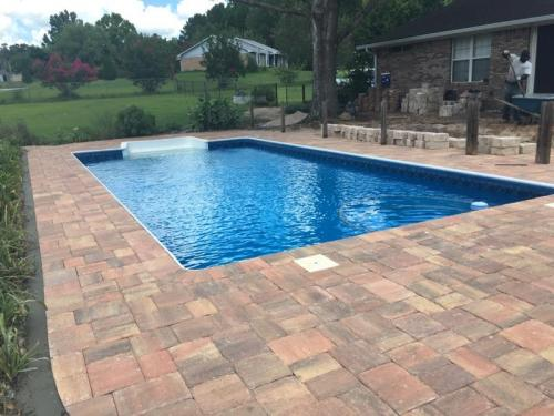 Pool Area with Pavers
